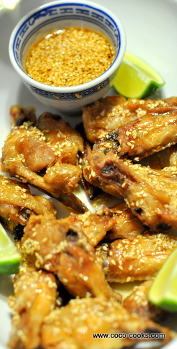 Post image for Honey Sesame Wings with Lemongrass Chili Ginger Salt and The Elephant in the Room