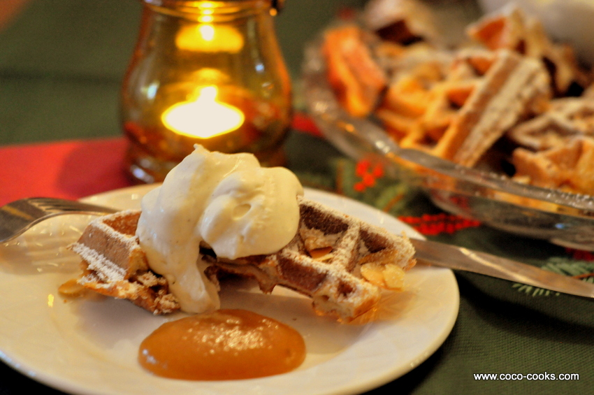 ... Almond Pillsbury Crescent Waffle Bites with Cardamom Whipped Cream